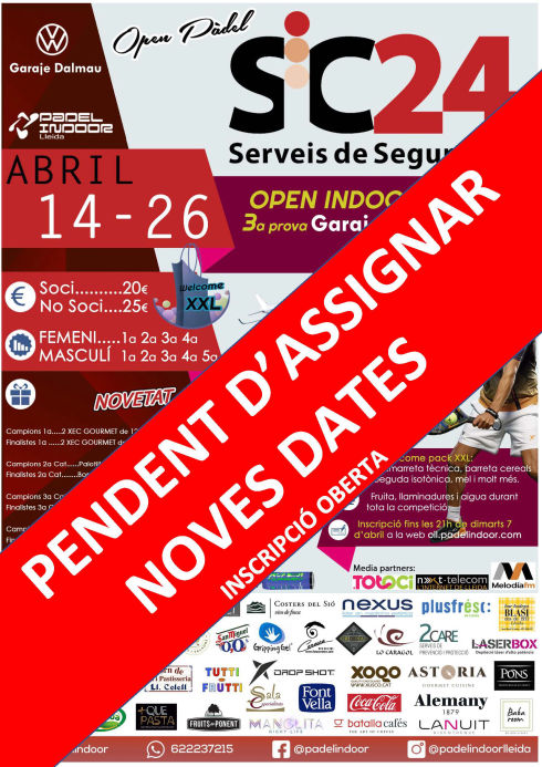 Open SiC24 - Pendent d'assignar noves dates